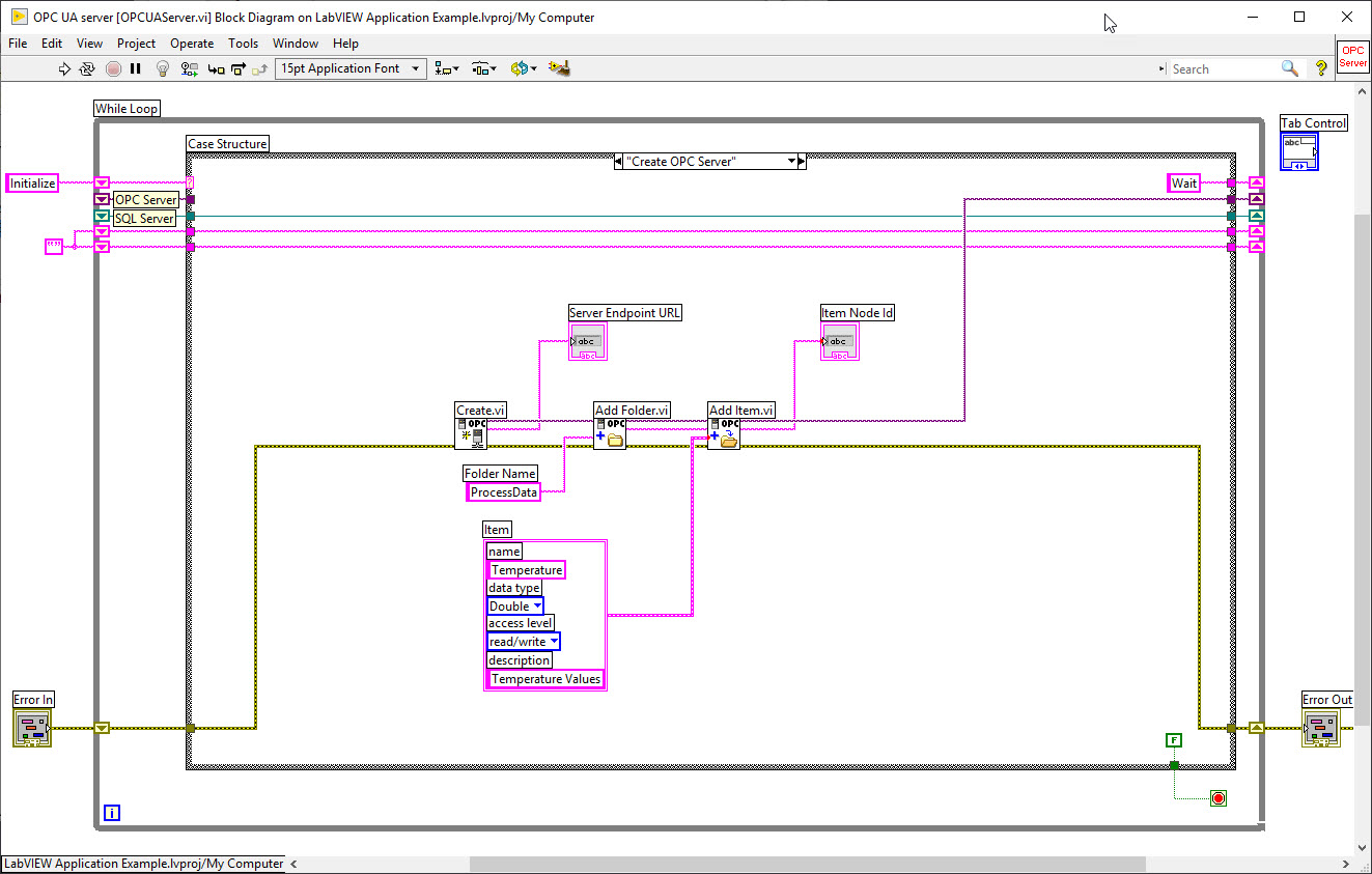 Labview Application Examples Make A Block Diagram Basically State Machine Is Case Structure Within While Loop Which Makes It Easy And Very Flexible To Larger Applications